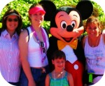 "Me, ""the twins"", Mickey, and my niece; Disney 2006."